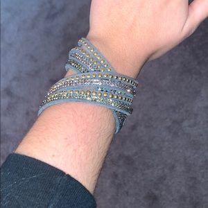 Gray wrap around bracelet